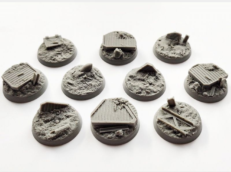 32mm Trench Warfare  Bases (10)